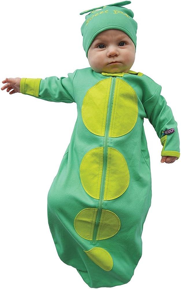 Sozo Unisex-Baby Newborn Sweet Pea Bunting and Cap Set