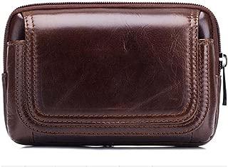 Travel Bags Men Waist Bag Vintage Genuine Leather Small Waist Pack Buisness Belt Bag