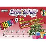 Einfacher!-Geht-Nicht: 24 Weihnachtslieder fuer das SONOR BWG Boomwhackers Glockenspiel mit CD: Das besondere Notenheft fuer Anfaenger