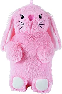 Slumberz 750ml 3D Rabbit Hot Water Bottles with Soft Plush Cover, Pink