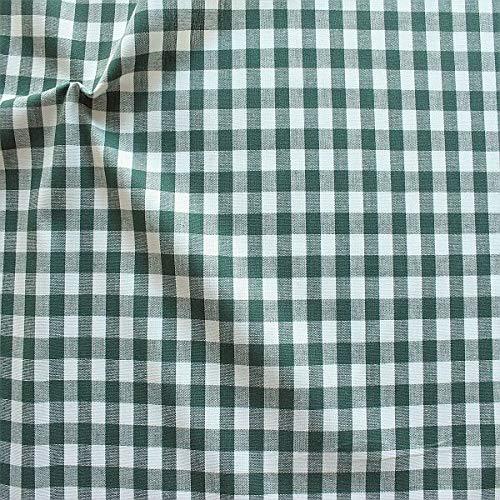 STOFFKONTOR 100% Baumwollstoff Stoff Züchen Vichy Karo groß - Öko-Tex Standard 100 - Meterware, dunkel-grün...