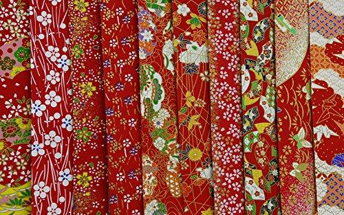 Papel japonés tradicional chiyogami yuzen ~ 10 x 10 cm ~ 100 hojas