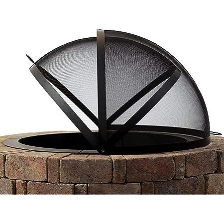 Hampton's Buzaar 36 Inch Fire Pit Easy Access Spark Screen