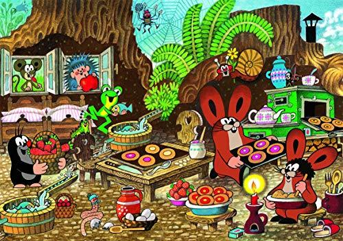 Dino Toys (DINR7) 343450 Dino Puzzle Kleiner Maulwurf in der Küche, 100 XL, Mehrfarbig