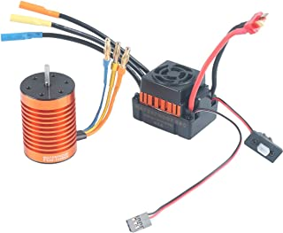 Remote & App Controlled Vehicles & Parts RCRunning 3650 5200KV 3.175mm Shaft Brushless Motor Splashproof 60A ESC Combo Set 1/10 Scale RC Car Toys & Games Red