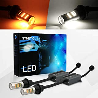 Error Free Canbus Dual Color Switchback LED Turn Signal Light Bulbs No Hyper Flash All in One Built In Resistors (Turn Signal-Amber/White, 3157)