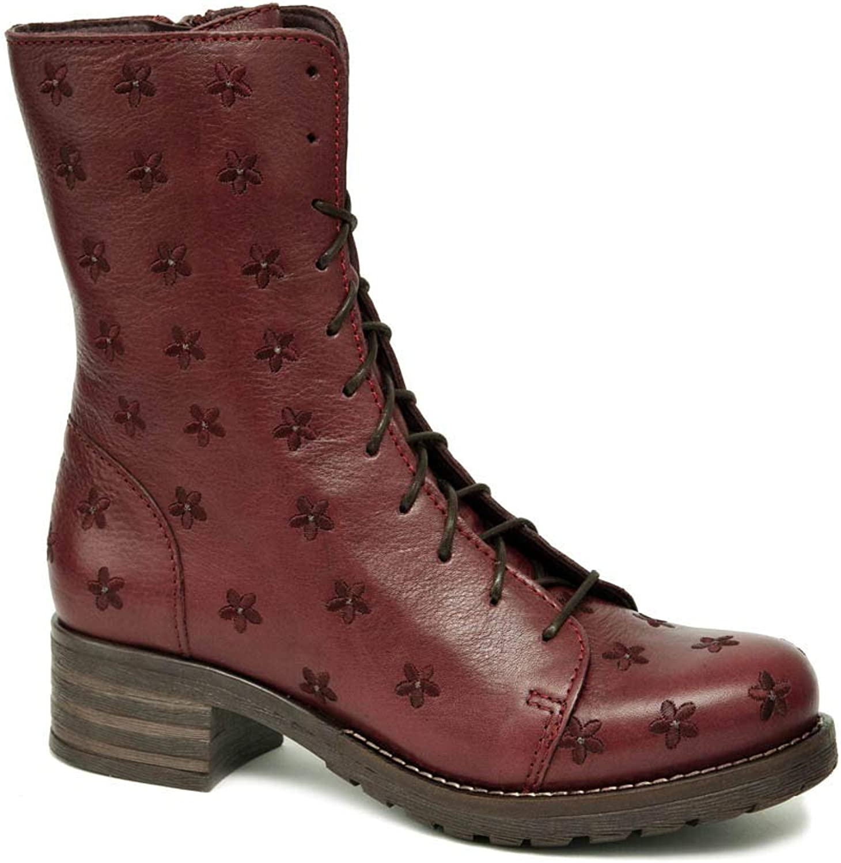 Brako Stiefel Stiefel 8432 Planet Burdeos rot Military Leder Blaumen