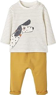 VERTBAUDET Ensemble bébé T-shirt + pantalon en molleton vert de gris 18M - 81CM