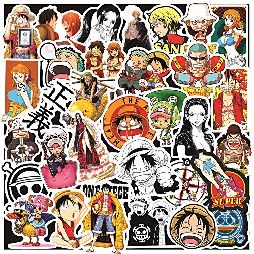 50pcs Anime 2020 ONE PIECE Luffy Stickers For DIY Skateboard Snowboard Suitcase Scrapbooking Laptop Backpack Car Decal Stickers