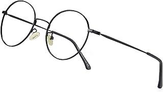 Blue Light Glasses, Round Glasses Fashion, Computer Eyeglasses for Blocking Harmful Blue Light, Relieve Eye Strain
