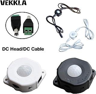 Sensor de movimiento infrarrojo PIR ajustable de 12 V y 24 V con interruptor de encendido/apagado para cuerpo humano, sens...