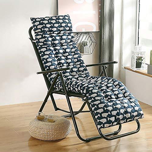 ADLOASHLOU Sdraio da Spiaggia Cuscini Giardino Patio Lounger Spesso Cuscino Imbottito Sedia Materasso Sdraio da Cuscino per Le Vacanze Schienale per la Corsa Garden 3#-48 * 170cm