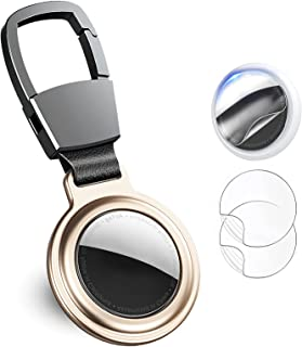 $25 » RAGAGA Magnetic Protective Case with Anti-Loss Carabiner Keychain Key Ring Loop for Air Tags Finder, Zinc Alloy Holder Cov...
