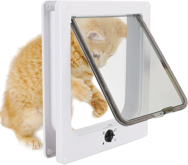 Yivibe Pet Door Dog Mesa Mall and In stock Gat Cat Lockable Plastic