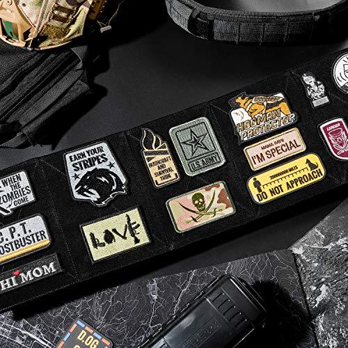 OneTigris Panneau de Rangement Pliable Moral Panel Display Patch Support Tactique pour Patchs, Noir, 20.4 * 14 * 2.6 cm