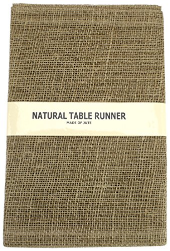 Kel-Toy Inc KEL-Toy 14 by 72-INCH, FOLD/SEW Edges, Natural 14x72-Inches Burlap Jute Table Runner (Pack of 3), 3 Piece
