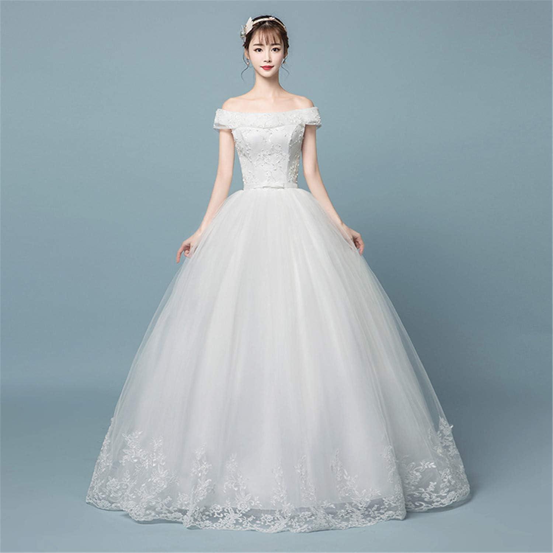 Wedding Dress Bride Bridesmaid Women Vintage Elegant Lace Tulle Evening Cocktail Formal Fashion