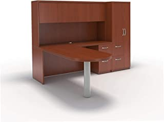 Wood & Style Furniture L-Shaped Peninsula Desk Premium Office Home Durable Strong