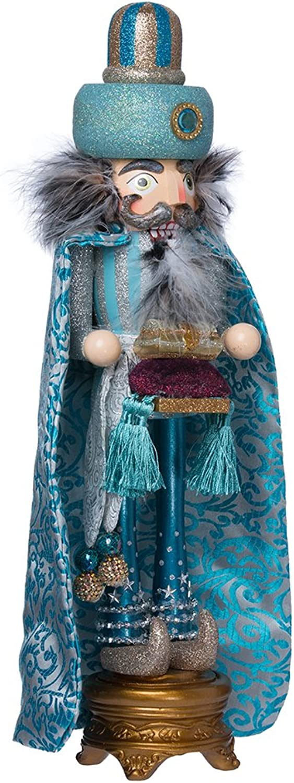 Hollywood Nutcrackers Kurt Adler Hollywood King Nutcracker, 18-Inch, Turquoise