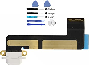 (md0410) White USB Lighting Charging Port Charge Dock Connector Charger Flex Ribbon Cable Replacement Part Compatible for Ipad Mini Model A1432 A1454 A1455 + Tools Kit
