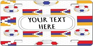 Style In Print Aluminum Car License Plate Custom Nagorno Karabakh Flag Soccer Pattern