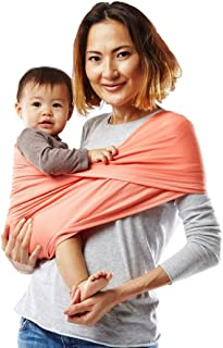 Baby K'tan Active Baby Wrap Carrier, Infant and Child Sling - Simple Wrap Holder for Babywearing - No Rings or Buckles - Carry Newborn up to 35 lbs, Coral, M (W 10-14 / Men's jacket 39-42)