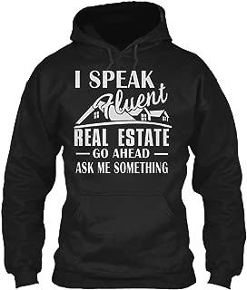 I Speak Fluent Real Estate go. Sweatshirt - Gildan 8oz Heavy Blend Hoodie