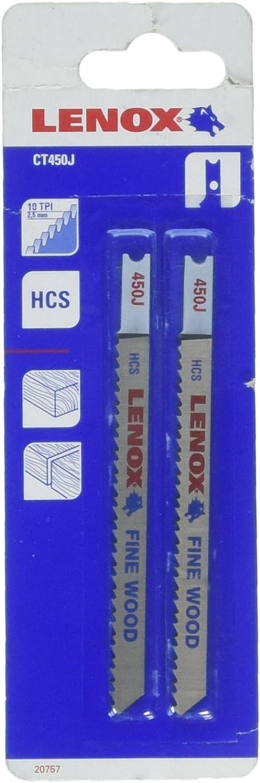 Lenox Tools 20757CT450J Fees free!! U-Shank High Carbon Steel Genuine Free Shipping Cutt Wood Fine