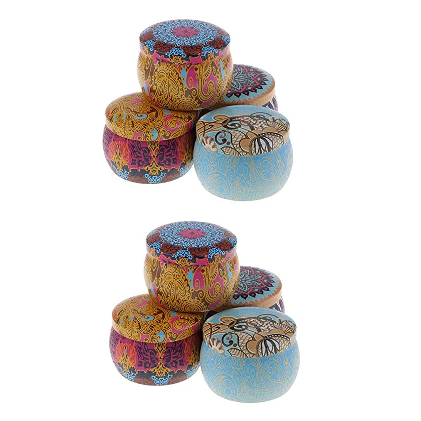 倍増ハーネス矢D DOLITY アロマキャンドル 缶キャンドル 香りキャンドル スポータブル ナショナルスタイル 8個入り