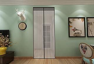 Chenci moskitiera na drzwi, 210 x 90 cm, przedłużona ochrona przed owadami, zapięcie na magnes, zamykana gaza, zasłona do ...