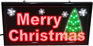 CHENXI Merry Chirstmas/Happy New Year LED Open Sign Rushed Sale Graphics Animated Motion Running 48 X 25 CM Indoor (48 X 25 CM, Merry Christmas-03)
