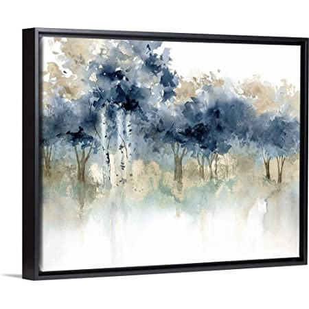 Amazon Com Waters Edge I Black Float Frame Canvas Art 32 X26 X1 75 Posters Prints
