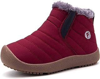 f7863f1dd2aa9 Enfant Chaussures Bottes d hiver Fille Garçon Bottines Mode de Neige avec  Doublure Chaud Fourrure