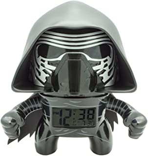 BulbBotz Star Wars Kylo Ren Kids Light up Alarm Clock | Black/Gray | Plastic | 7.5 inches Tall | LCD Display | boy Girl | Official