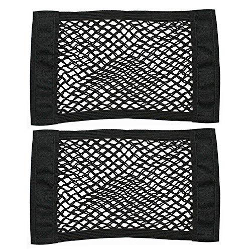 Gobesty Kofferraum Netztasche Klett, 2 Stück Auto Kofferraumtasche Netz, Elastisch Nylon Kofferraumnetz Lagerung Mesh für Universal Auto SUV Kofferraum