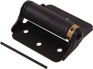 Hillman 852868 Hardware Essentials 852546 Satin Brass Double-Acting (3-inch) Black Adjustable Screen Door Spring Hinge, ...