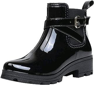 perfectCOCO Short Rain Boots Women Lightweight Waterproof Anti Slip Shoes Rubber Ankle Booties Water Shoes