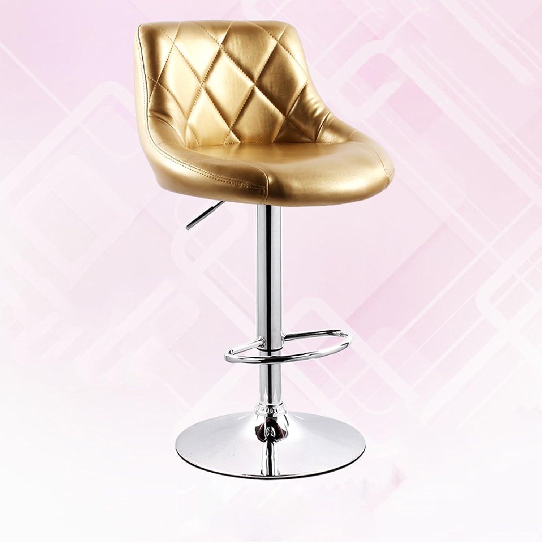 NNN- European Style Bar Chair Lift Bar Stool Modern Minimalist Bar with high Chair Backrest Stool High Stool (color   A)