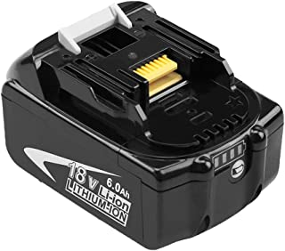 BL1860B Replace for Makita 18v Lithium-Ion Battery 6.0Ah BL1860 BL1850 BL1845 BL1840 BL1830 BL1820 BL1815 LXT400 194204-5,1-Pack