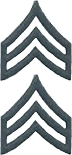 U.S. Army Metal Pin On Enlisted Rank BLACK - 1 PAIR