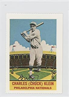 Chuck Klein (Baseball Card) 1977 Dover Classic Baseball Cards Reprints - [Base] #CHKL.2