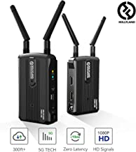 Wireless HDMI Video Transmission System, Hollyland Mars 300 5G Image Transmitter and Receiver Kit Support HD 1080P 300 Feet for DSLR Mirrorless Camera Gimbal Stabilizer