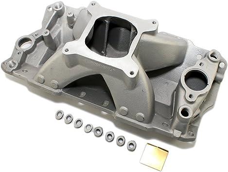 Satin Speedway Small Block Chevy SBC 305 327 350 400 Aluminum Intake Manifold