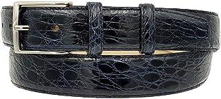 ESPERANTO Cintura 3,5 cm in vero fianco di Coccodrillo con fibbia Nichel free e fodera Nabuk