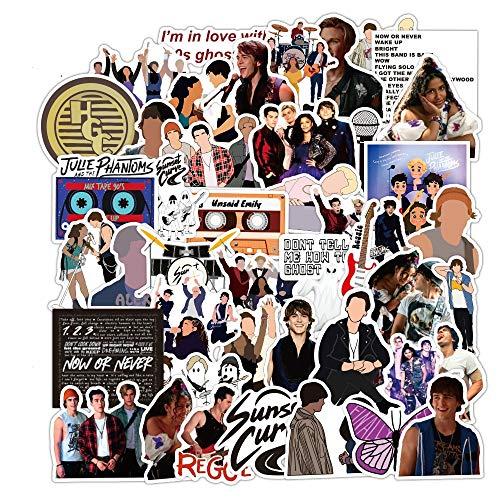 BAIMENG Singer Sunset Curve Pvc Adhesive Waterproof Sticker Fashion Trunk Brand Laptop Bag Stickers Toys 50Pcs/Bag