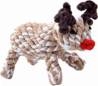 KOOLTAIL Dog Christmas Toys Reindeer Dog Xmas Rope Toy Chew Toys for Puppy