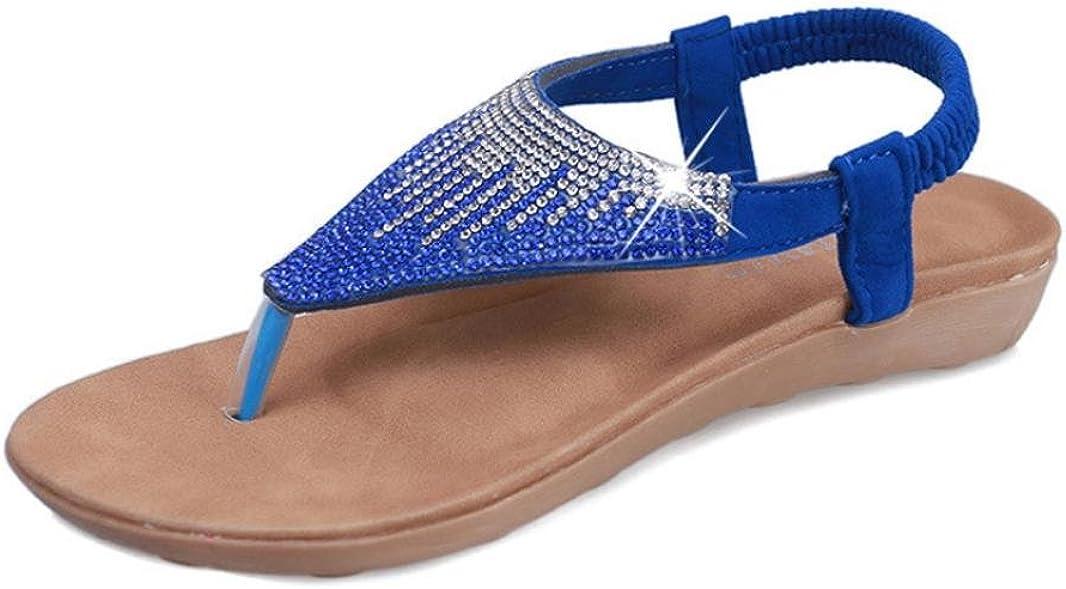 Ouneed/® Damen Sandalen,Sommer Bohemia Freizeit Dame Sandalen Peep-Toe Flip Flops Strand Schuhe Zehentrenner