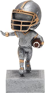 Decade Awards Football Bobblehead Trophy - Youth Football Award - 5.5 Inch Tall - Engraved Plate on Request