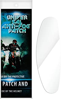 Universal Motorcycle Helmet Shield Anti Fog Film, 26cmX9cm Patch Clear Visor Lens Film Anti-Fog