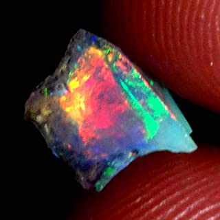GEMSCREATIONS Ethiopian Opal 01.60Cts 100% Natural Jumbo Mutli Fire Opal Rough Rare Gemstone